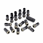 Kics Project (31876K) R40, Extended Lug Nut Set, with Wheel Lock Key (12 x 1.50 mm) Black Color, Titanium Coating, Acura, Chevy, Ford, Honda, Lexus, Mazda, Mitsubishi, Scion, Toyota, etc