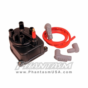 MSD (8291) Modified Distributor Cap (Black Color) Acura CL (1997), Honda Accord (1990-97), Civic (1996-00), Odyssey (1995-97)