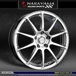 Nakayama Wheels - Zoro 10 - Hyper Silver (18 x 7.5) +45 mm (4 x 100 / 4 x 114.3) Set of  4 Wheels