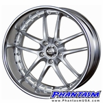 PIAA Wheels - Super Rozza - Silver Color (19 x 7.5) +42 mm (5 x 114.3) 66 mm Lip
