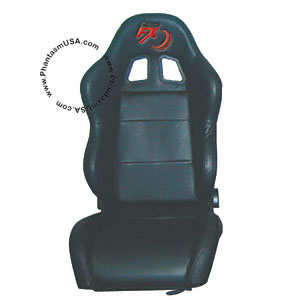 Tuner FX (T25-3925) Black Simulated Leather, Racing Seat (Sold As Singles)