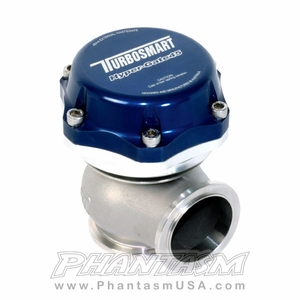 Turbosmart (TS-0504-1001) Hyper Gate 45, External Wastegate, Blue Color (45 mm) Universal Applications (7 psi Spring) Discontinued Item, See new part numbers below.
