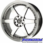 Velox Wheels - VX Nova - Silver Color, Machined Lip