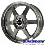 Velox Wheels - VX6 - Gun Metal Color, Machined Lip