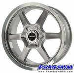 Velox Wheels - VX6 - Silver Color, Machined Lip