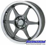 Velox Wheels - VX6R - Gun Metal Color, Machined Lip