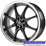 Velox Wheels - VX8 - Gun Metal Color, Machined Lip