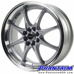 Velox Wheels - VX8 - Silver Color, Machined Lip