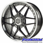 Velox Wheels - VXK - Gun Metal Color, Machined Lip