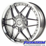 Velox Wheels - VXK - Silver Color, Machined Lip