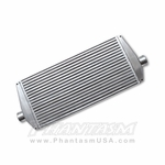 "Vibrant (12810) Air Intercooler with End Tanks, 2.50"" Inlet, Outlet (550 HP Rating)"
