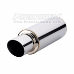 Vibrant - Universal TPV Mufflers - with Angle Cut Exhaust Tip (Save 20%)