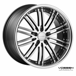Vossen Wheels - VVS082 - Black Machined, Stainless Lip (Save 15%)