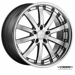 Vossen Wheels - VVS083 - Black Machined, Stainless Lip (Save 15%)