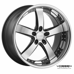 Vossen Wheels - VVS084 - Black Machined, Stainless Lip (Save 15%)