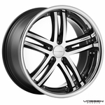 Vossen Wheels - VVS085 - Black Machined, Stainless Lip (Save 15%)