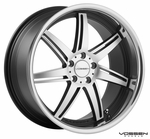 Vossen Wheels - VVS086 - Matte Black Machined, Stainless Lip (Save 15%)