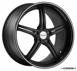 Vossen Wheels - VVS087 - Matte Black, Black Lip, Machined Pinstripe (Save 15%)