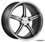 Vossen Wheels - VVS087 - Matte Black Machined, Stainless Lip (Save 15%)