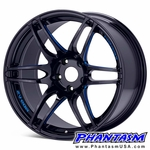 WedsSport Wheels - SA60M - Black Blue Machining (18 x 8.0) +45 mm (5 x 100)