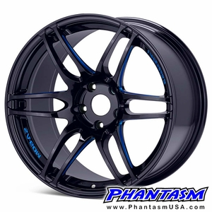 WedsSport Wheels - SA60M - Gloss Black, Blue Machining (Save 15%) BBM