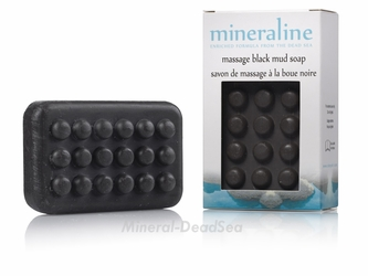Dead Sea, BLACK mud massage Soap, Mineraline