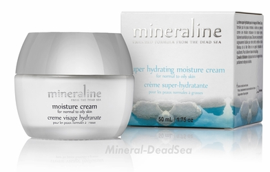 Dead Sea, OILY Moisture Cream, Mineraline