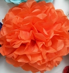 ORANGE TISSUE Paper Pom Pom 10""