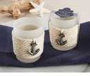 """Anchors Away"" Rope Tealight Holder (Set of 4)"