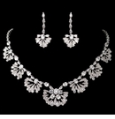 Antique Rhodium Great Gatsby Style Jewelry Set