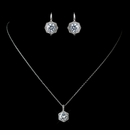 Antique Rhodium Jewelry Set