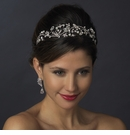 Antique Silver Pearl & Marquise Crystal Side Tiara