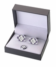 Argyle Cufflinks and Tie Tack Set