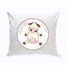 Baby Cow Nursery Throw Pillow