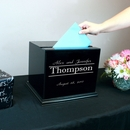 Black Rectangle Signature Glass Wedding Card Box