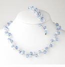 Blue Silver Clear Necklace Bracelet Set