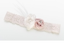 Blush Vintage Lace Bridal Garter