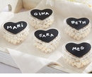 Chalk Heart Labels & Heart Favor Holder (Quanity of 12)