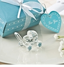 Choice Crystal Glass Baby Carriage with Blue Accents