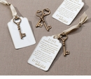 Christian Bronze Key Tags for Guest Signing (Set of 24)