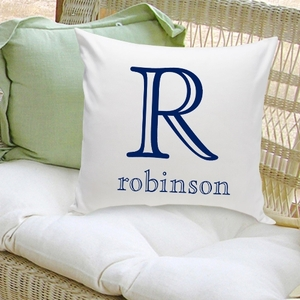 Classic Family Initial Decorative Throw Pillow