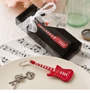 Classic Red Electric Metal Guitar Keychain