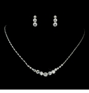 Clear Rhinestone Necklace & Earrings