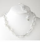 Clear Silver Clear Necklace Bracelet Set