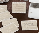 Country Lace Guest Cards- Set of 48
