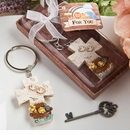 Cross Keychain With A Noah's Ark Design