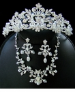 Crystal & Pearl Couture JewelryTiara Set