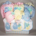 Deluxe Tote Triplets Baby Gift Set