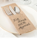 Eat, Drink and Be Married Burlap Holder