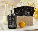 Eat, Drink & Be Married Collapsible Cold-Can Koozie (Set of 12)